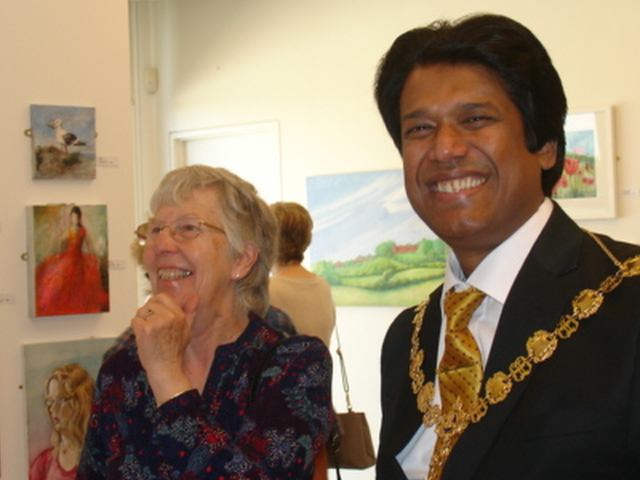 Picture of Cllr. Azad and Maggie